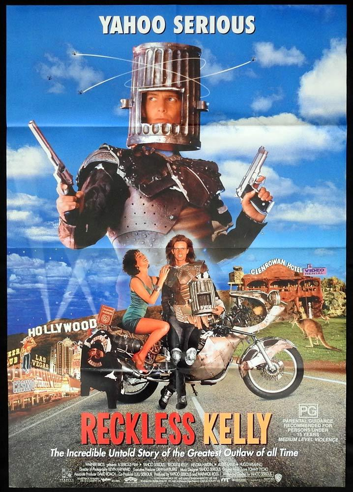 RECKLESS KELLY Original One sheet Movie poster Yahoo Serious Biker