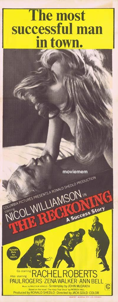 THE RECKONING Daybill Movie poster Nicol Williamson