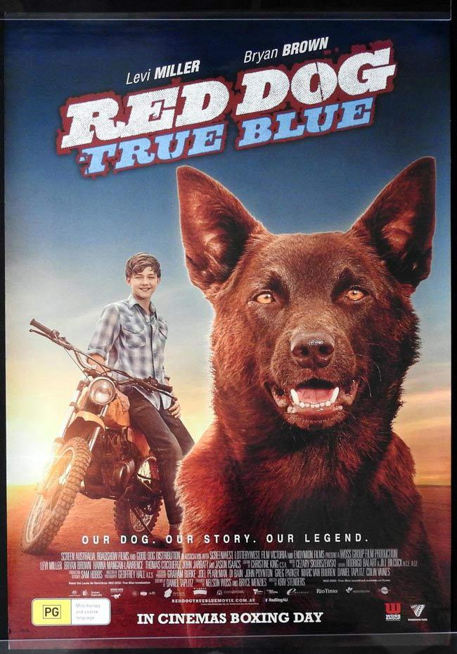 RED DOG TRUE BLUE Australian One sheet movie poster Jason Isaacs Levi Miller Bryan Brown