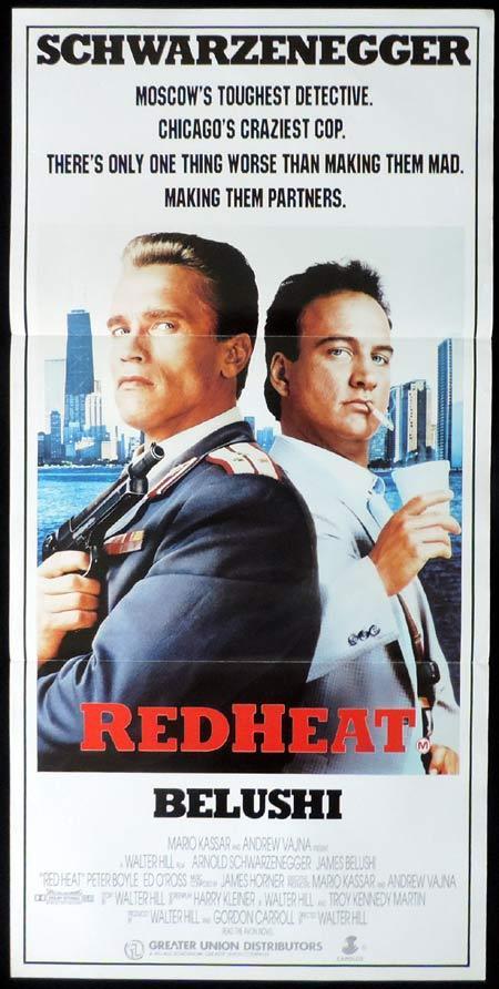 RED HEAT Original Daybill Movie Poster Arnold Schwarzenegger