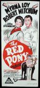 THE RED PONY Original DUOTONE Daybill Movie Poster Robert Mitchum