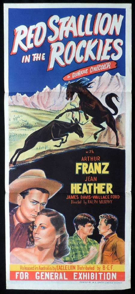 RED STALLION IN THE ROCKIES Original Daybill Movie Poster Arthur Franz