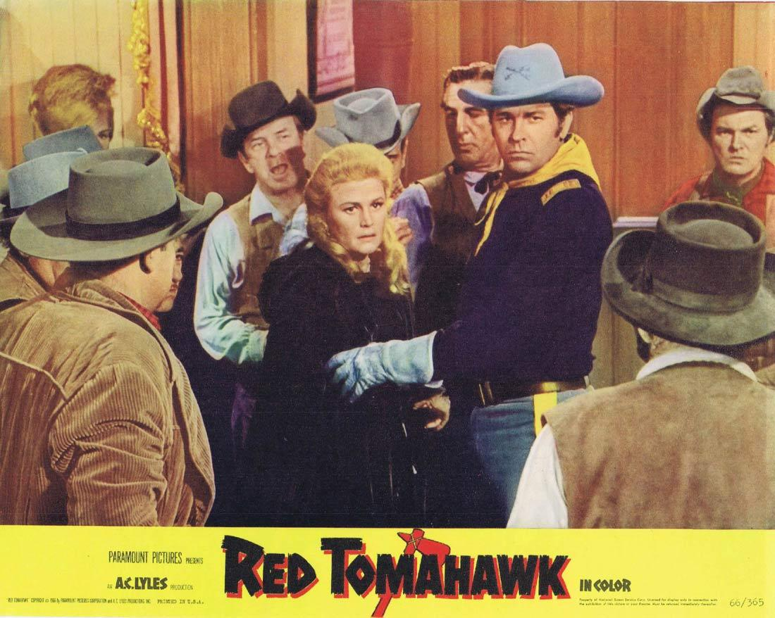 RED TOMAHAWK Lobby Card 3 Howard Keel Joan Caulfield Broderick Crawford