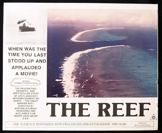 THE REEF 1977 John Heyer Documentary GREAT BARRIER REEF Lobby Card 1