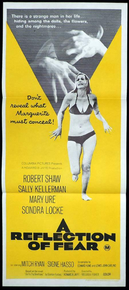 A REFLECTION OF FEAR Original Daybill Movie Poster Robert Shaw