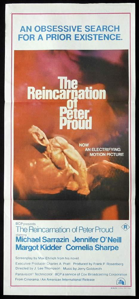 THE REINCARNATION OF PETER PROUD Original Daybill Movie Poster Michael Sarrazin Jennifer O'Neill