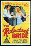 THE RELUCTANT BRIDE Original One sheet Movie Poster Virginia Bruce John Carroll