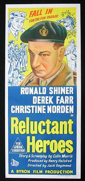 RELUCTANT HEROES Daybill Movie poster RONALD SHINER British Comedy