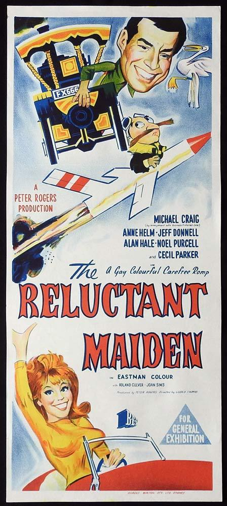 THE RELUCTANT MAIDEN Original Daybill Movie Poster Michael Craig Anne Helm