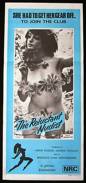 THE RELUCTANT NUDIST '66 Sexploitation poster