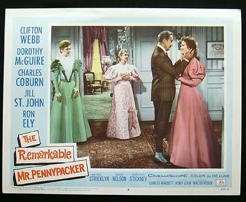 REMARKABLE MR PENNYPACKER Lobby Card 8 1959 Clifton Webb Dorothy Maguire