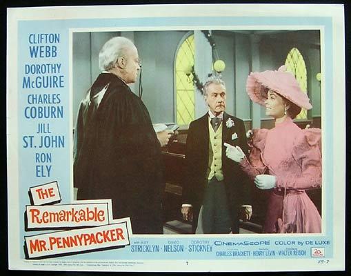REMARKABLE MR PENNYPACKER Lobby Card 7 1959 Clifton Webb Dorothy Maguire
