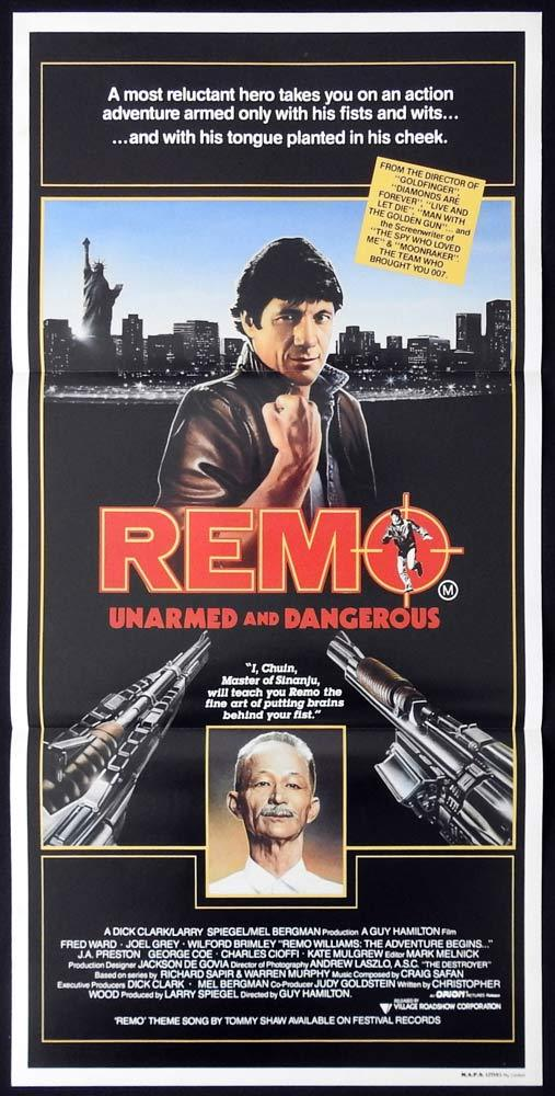 REMO ARMED AND DANGEROUS Rare Movie poster Fred Ward Joel Grey Wilford Brimley