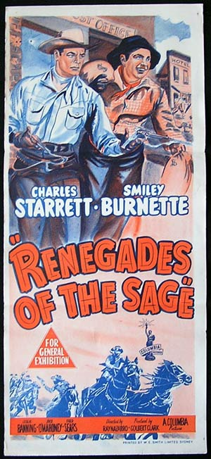RENEGADES OF THE SAGE '49-Charles Starrett poster