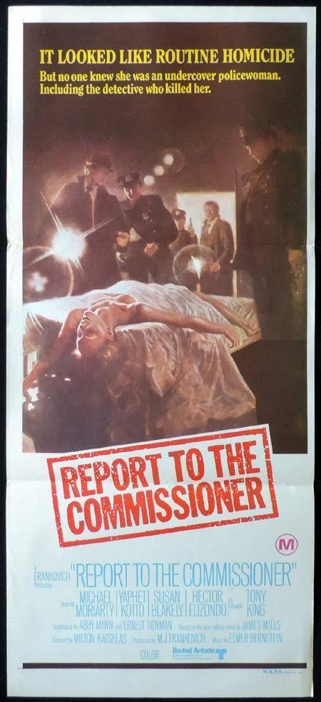 REPORT TO THE COMMISSIONER Original Daybill Movie Poster Michael Moriarty