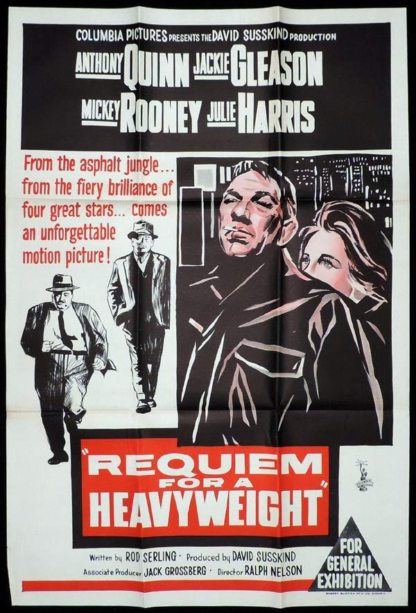 REQUIEM FOR A HEAVYWEIGHT One Sheet Movie Poster Anthony Quinn Boxing