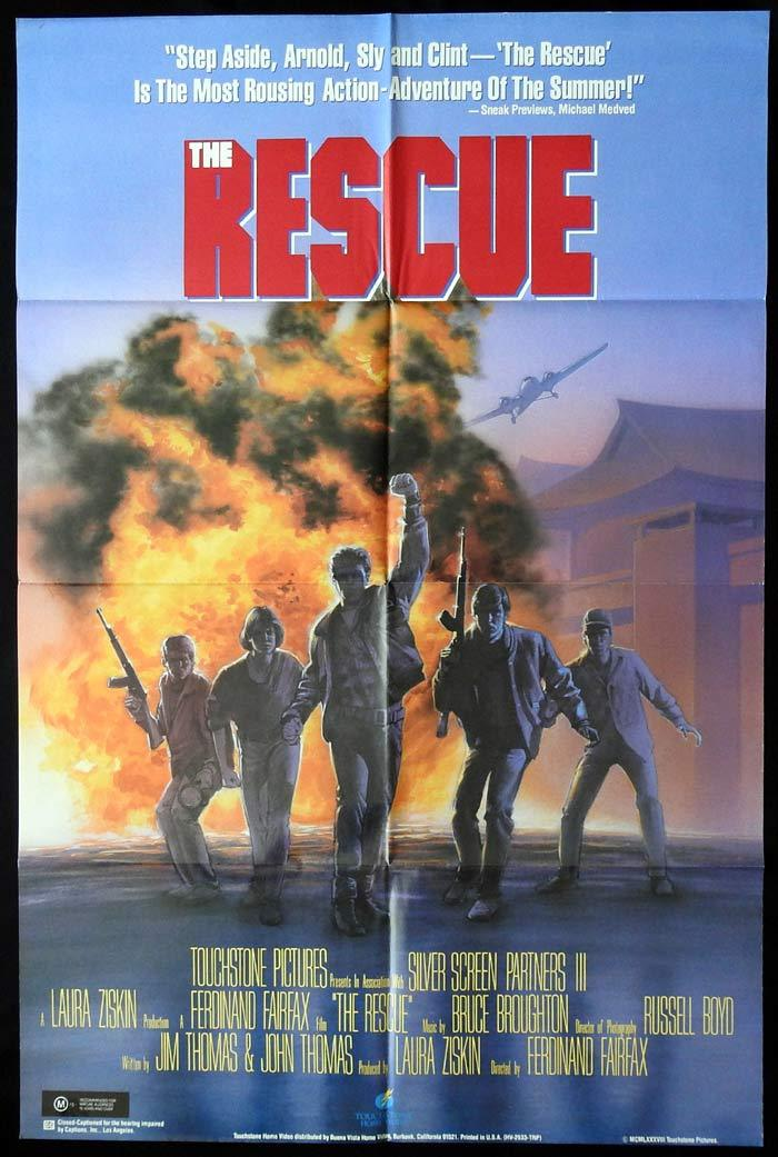 THE RESCUE One Sheet Movie Poster Kevin Dillon Ned Vaughn Marc Price