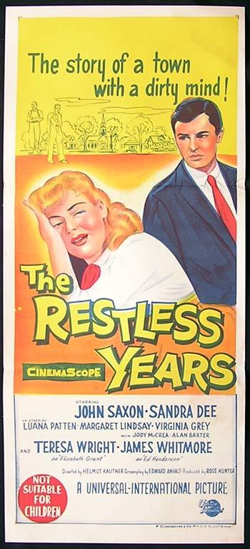 RESTLESS YEARS Movie Poster 1958 Sandra Dee Australian daybill