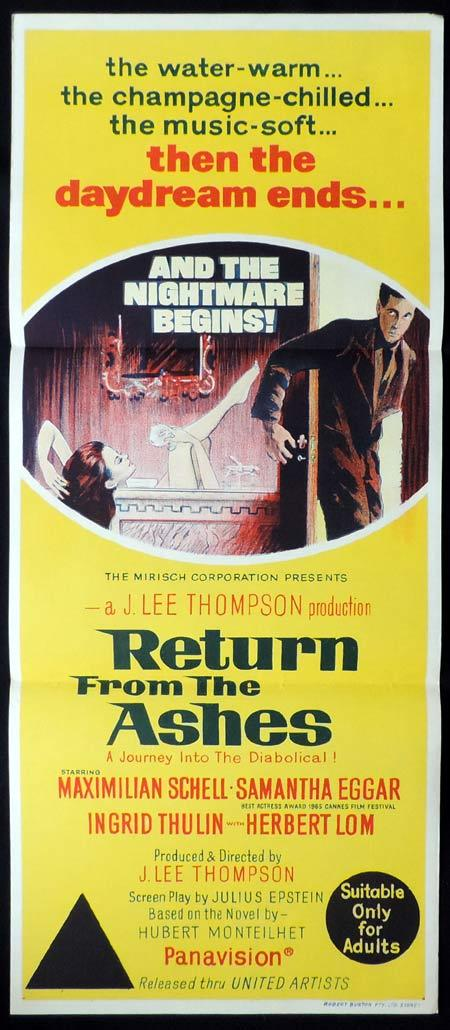 RETURN FROM THE ASHES Original Daybill Movie Poster Samantha Eggar