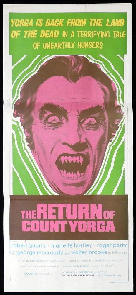 THE RETURN OF COUNT YORGA Original Daybill Movie Poster Robert Quarry