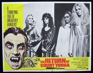 RETURN OF COUNT YORGA, The '71-Robert Quarry-US Lobby Card #8