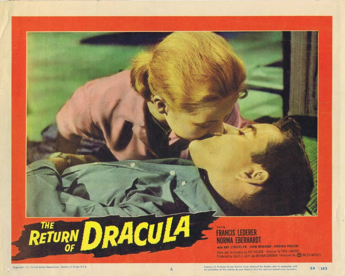 THE RETURN OF DRACULA Lobby Card 6 Francis Lederer Norma Eberhardt Ray Stricklyn