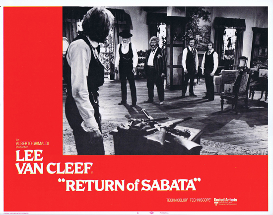 RETURN OF SABATA Lobby Card 1 Lee Van Cleef Spaghetti Western