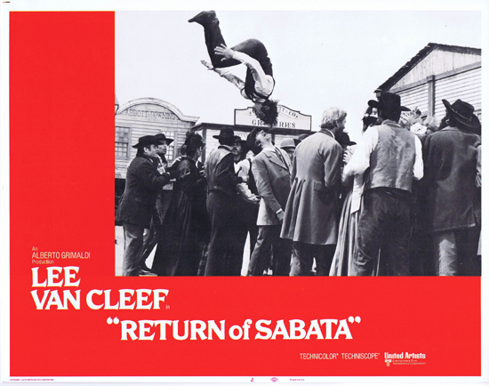 RETURN OF SABATA Lobby Card 2 Lee Van Cleef Spaghetti Western