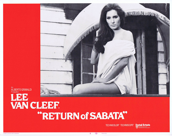 RETURN OF SABATA Lobby Card 4 Lee Van Cleef Spaghetti Western