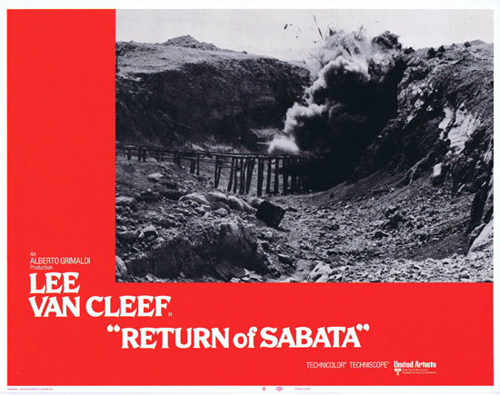 RETURN OF SABATA Lobby Card 8 Lee Van Cleef Spaghetti Western
