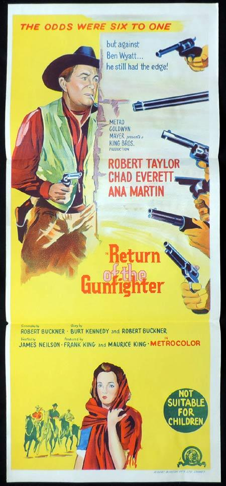 RETURN OF THE GUNFIGHTER Daybill Movie Poster Robert Taylor