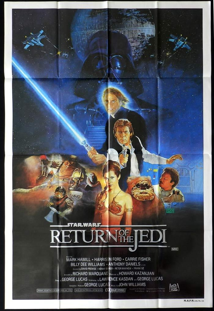 RETURN OF THE JEDI Star Wars Style B One sheet Movie poster