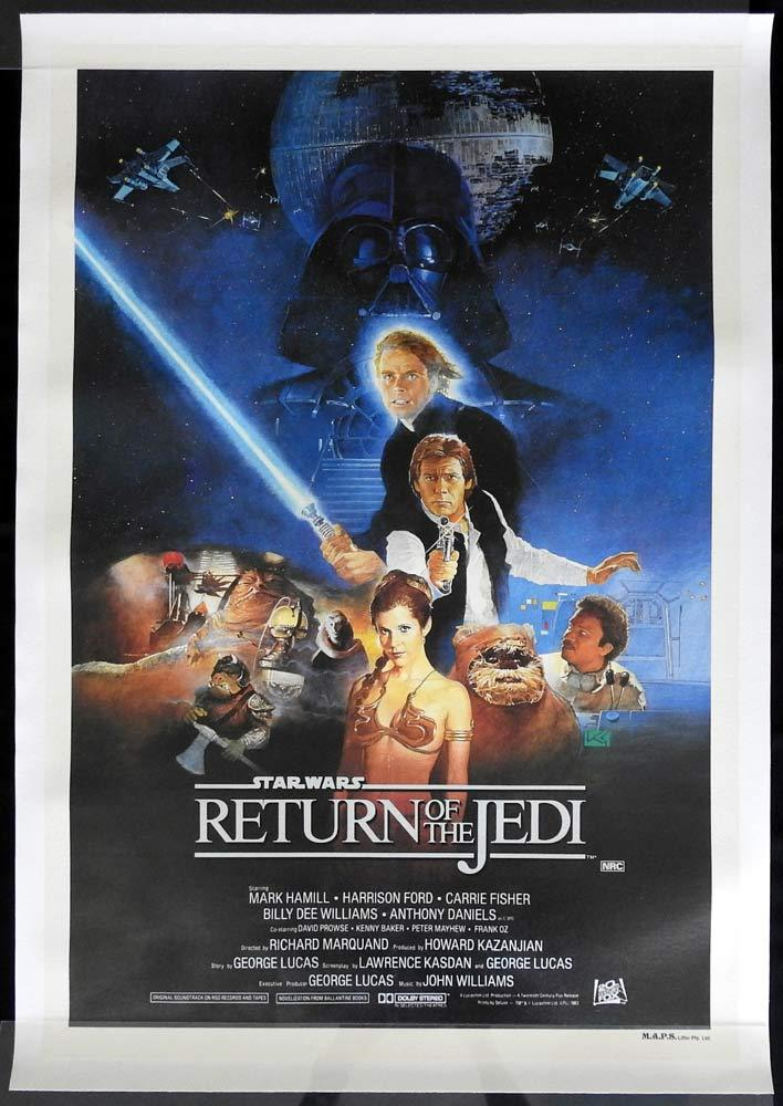 RETURN OF THE JEDI Star Wars Style A Linen Backed One sheet poster