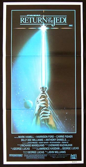 RETURN OF THE JEDI Star Wars Original Style A daybill poster