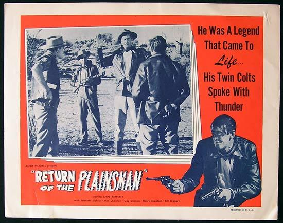 THE PHANTOM STOCKMAN aka RETURN OF THE PLAINSMAN 1953 US Lobby Card 2