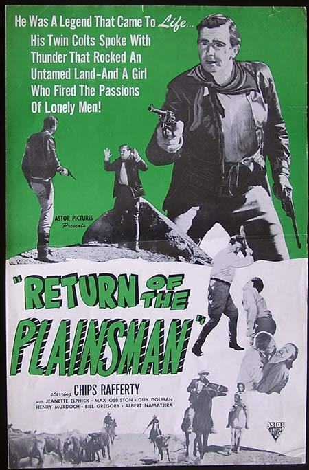THE PHANTOM STOCKMAN aka RETURN OF THE PLAINSMAN 1953 Chips Rafferty US Press Book