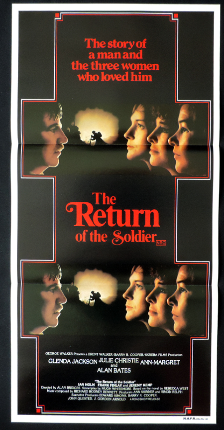 RETURN OF THE SOLDIER daybill Movie poster Ann-Margret Alan Bates Julie Christie Glenda Jackson
