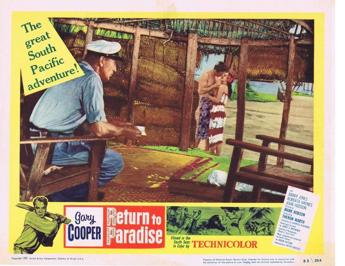 RETURN TO PARADISE Lobby Card 5 Gary Cooper Barry Jones Roberta Haynes