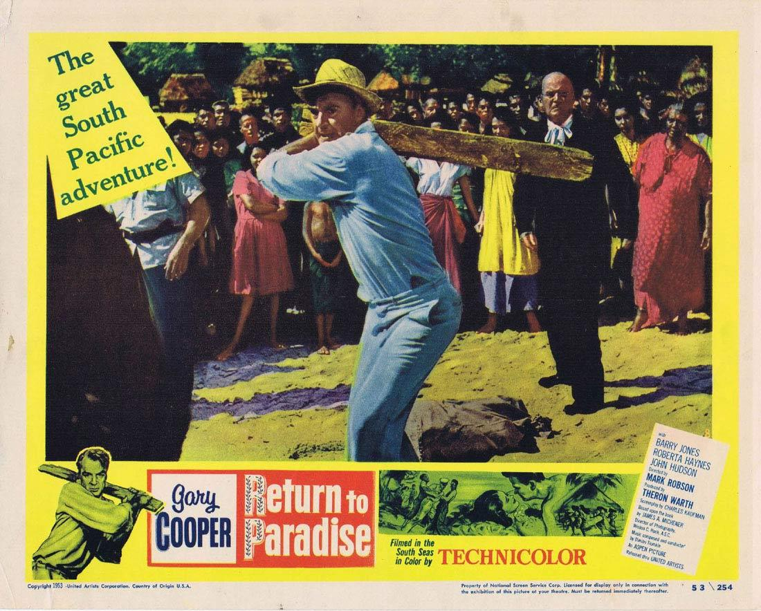 RETURN TO PARADISE Lobby Card 8 Gary Cooper Barry Jones Roberta Haynes
