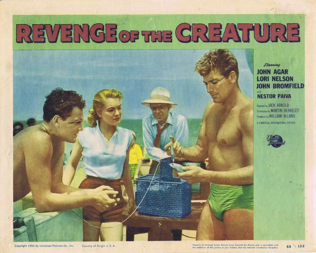 REVENGE OF THE CREATURE Lobby Card 4 John Agar Lori Nelson