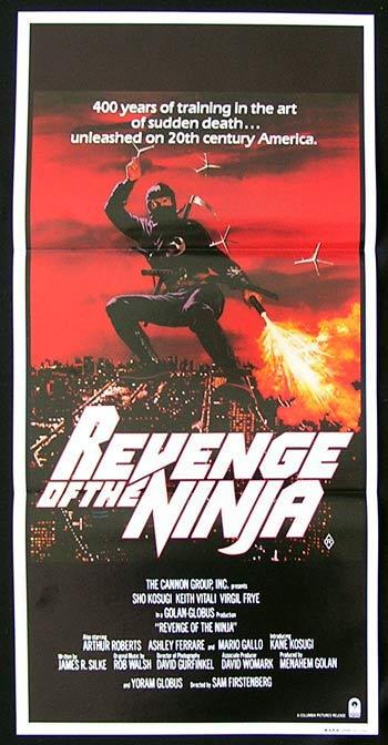 REVENGE OF THE NINJA Original Daybill Movie Poster Sho Kosugi Martial Arts