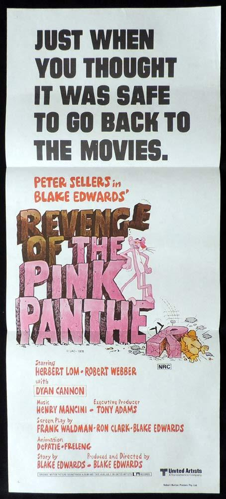 REVENGE OF THE PINK PANTHER Original Daybill Movie Poster Peter Sellers Blake Edwards