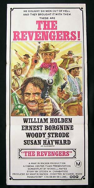 THE REVENGERS Original Daybill Movie Poster William Holden Ernest Borgnine. Western