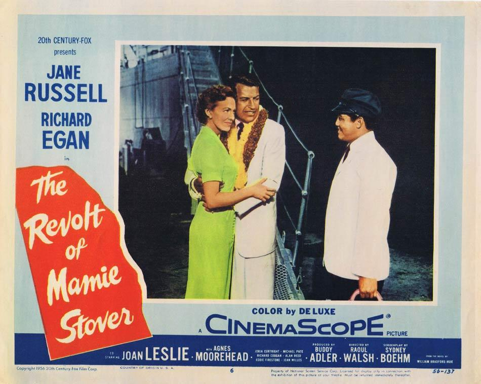REVOLT OF MAMIE STOVER Lobby Card 6 Jane Russell