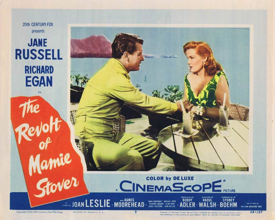 REVOLT OF MAMIE STOVER Lobby Card 7 Jane Russell