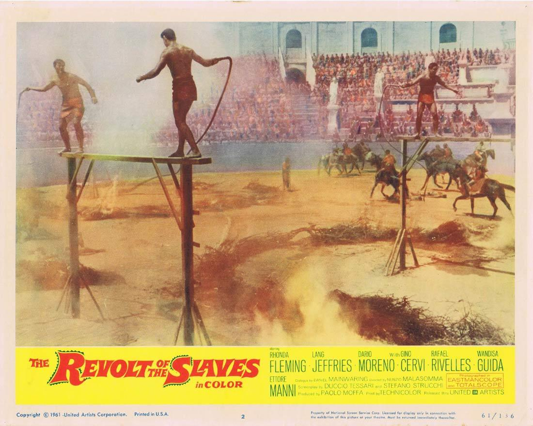 THE REVOLT OF THE SLAVES Lobby Card 2 Rhonda Fleming