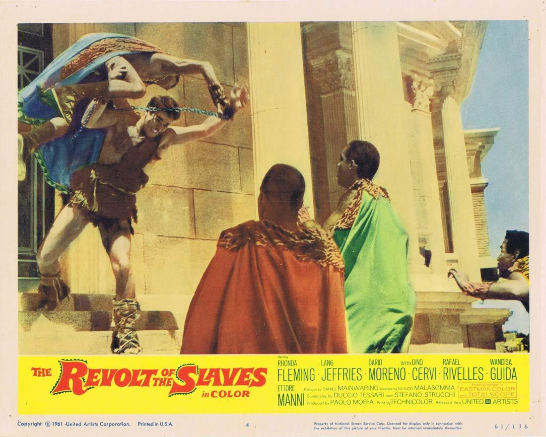 THE REVOLT OF THE SLAVES Lobby Card 4 Rhonda Fleming