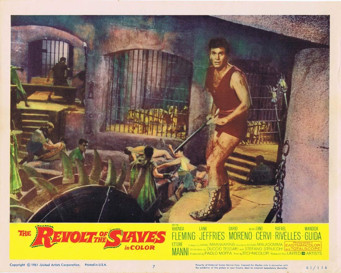 THE REVOLT OF THE SLAVES Lobby Card 7 Rhonda Fleming