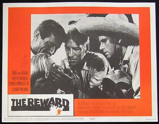 REWARD '65 Max Von Sydow-Yvette Mimieux US Lobby card #1