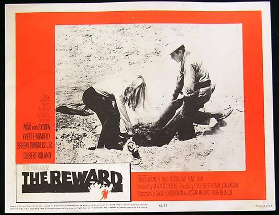 REWARD '65 Max Von Sydow-Yvette Mimieux US Lobby card #2